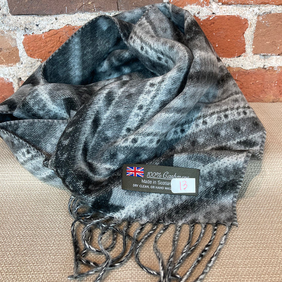 Pattern Cashmere Scarf - Made in Scotland