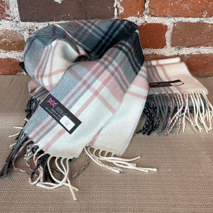 Plaid Cashmere Scarf - Made in Scotland