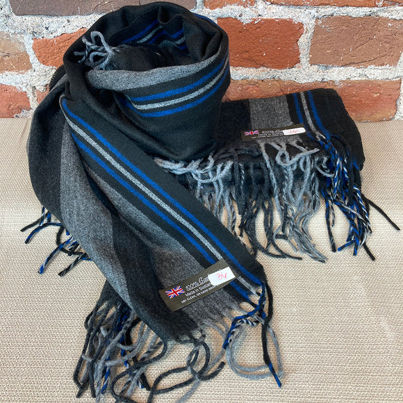 Stripes Cashmere Scarf - Made in Scotland
