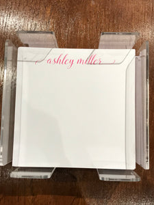 Personalized Memo Cubes - Ashley Miller
