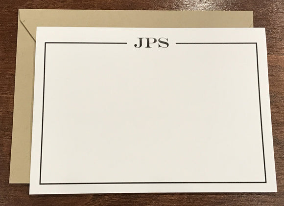 Personalized Notecards - JPS Monogram