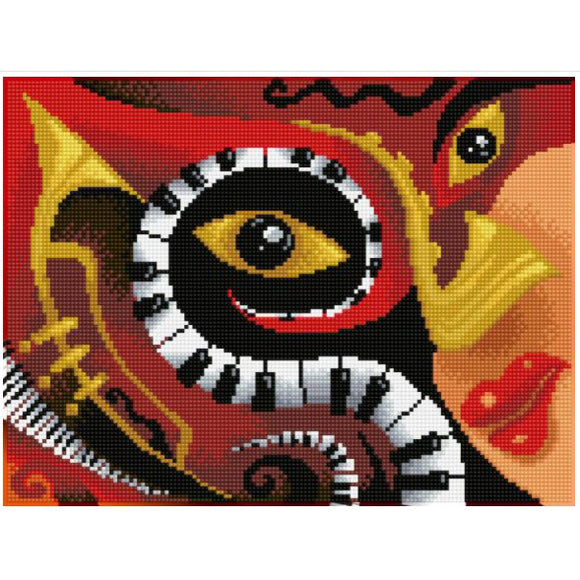 Diamond Painting Kit - 12x16 Jazz Bar