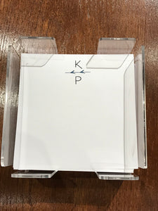 Personalized Memo Cubes - K P Stacking initials