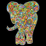 Diamond Painting Kit - 16x16 Kaleidoscope Elephant
