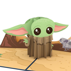 "Star Wars Mandelorian ""Baby Yoda"" Lovepop Pop-up Greeting Card - stamps included"