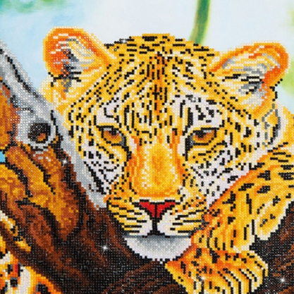 Diamond Painting Kit - 14x18 Leopard Look