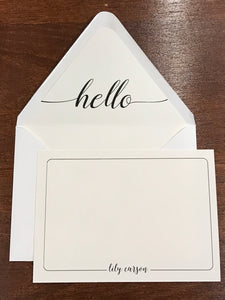 Personalized Notecards - Lily Carson