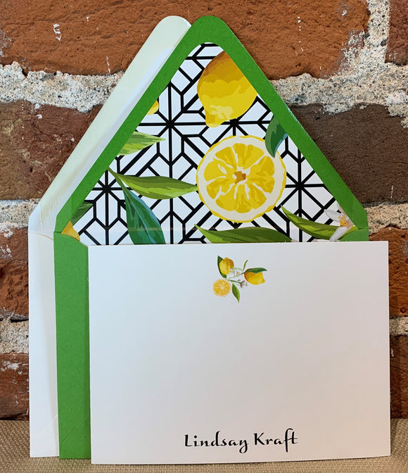 Personalized Notecards - Lindsay Kraft Lemons