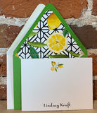 10 Personalized Notecards with Lined Envelopes