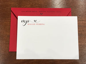 Personalized Notecards - Maggie Perring Heart