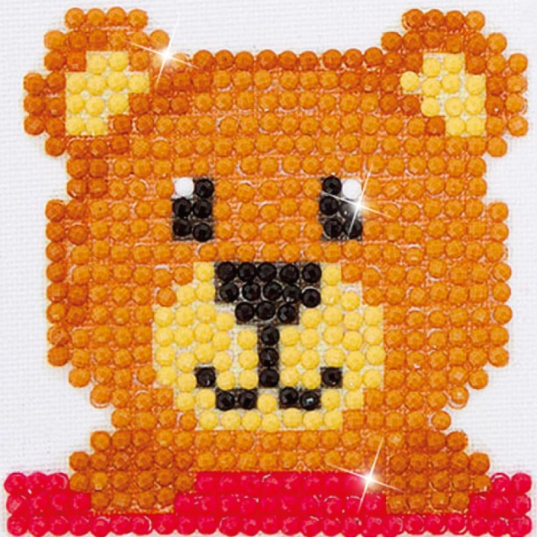Diamond Painting Kit - 3x3 Mr. Handsome Teddy Bear