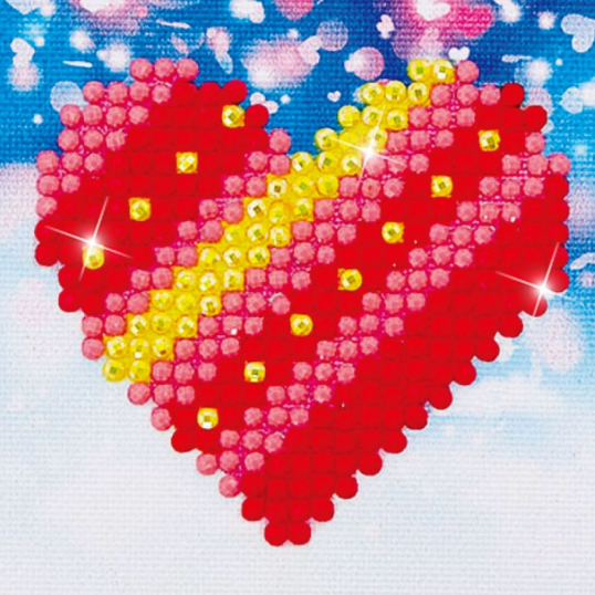 Diamond Painting Kit - 3x3 Patchwork Heart
