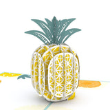 Pineapple Lovepop Pop-up Greeting Card - stamps included