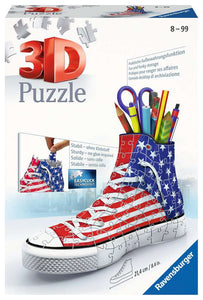 American Flag Shoe & Storage 3D Puzzle 112 pieces