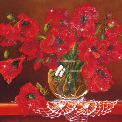 Diamond Painting Kit - 16x20 Red Poppies