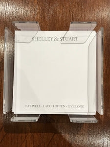 Personalized Memo Cubes - Shelley & Stuart