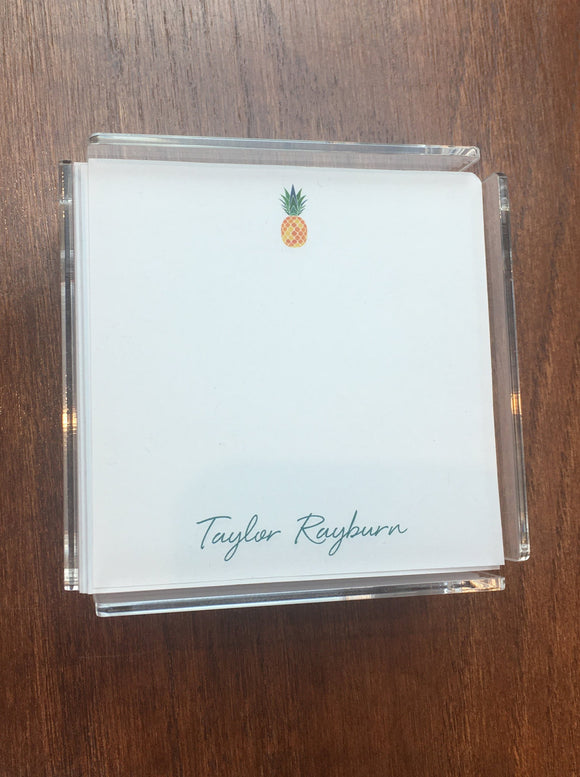Personalized Memo Cubes - Taylor Rayburn Pineapple