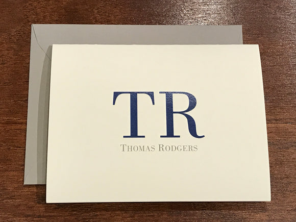 Personalized Notecards - Thomas Rodgers