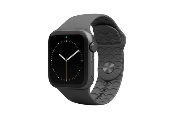 Groove Apple Watch Band Mens - Solid Deep Stone Grey