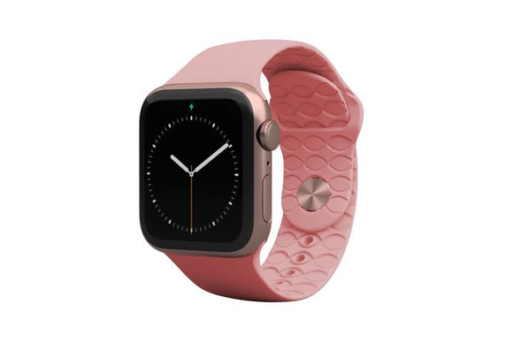 Groove Apple Watch Band Womens - Solid Rose Pink
