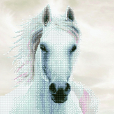 Diamond Paint Kit - 19x25 White Stallion