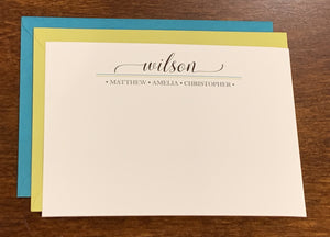 Personalized Family Notecards - Wilsons
