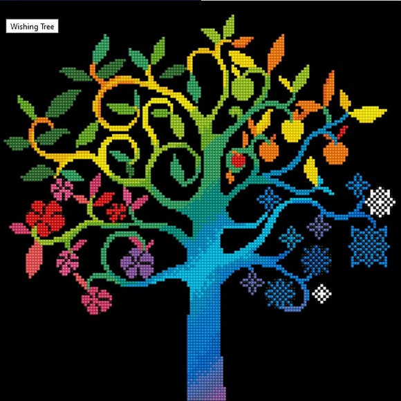 Diamond Painting Kit - 16x16 Wishing Tree
