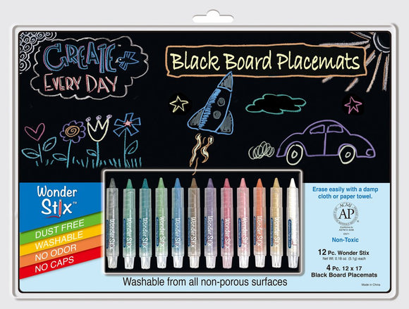 Wonder Stix Write & Wipe Placemat Coloring Kit