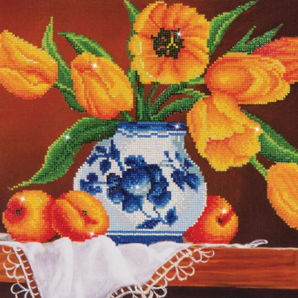 Diamond Painting Kit - 16x20 Yellow Tulips