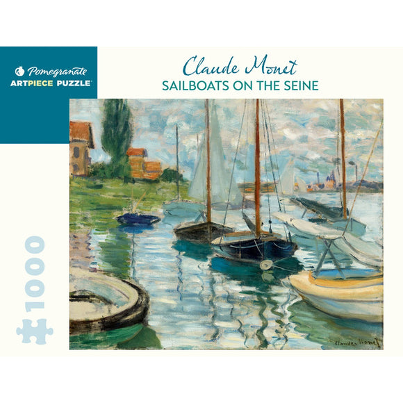Monet's Sailboats on the Seine 1000 Piece Puzzle