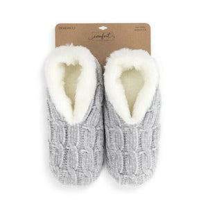 Super Soft Chenille Slippers - Gray