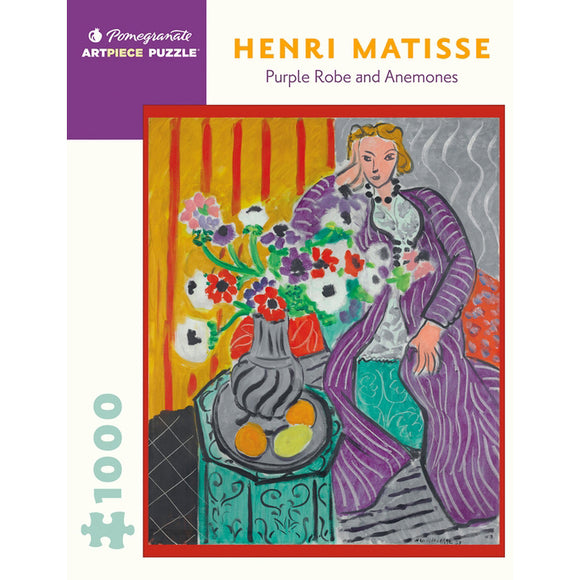 Matisse's Purple Robe and Anemones 1000 Piece Puzzle