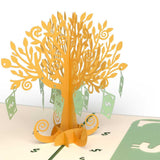Money Tree Lovepop Pop-up Greeting Card - stamps included