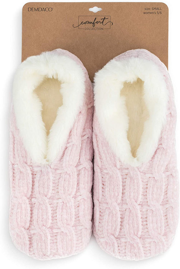Super Soft Chenille Slippers - Blush