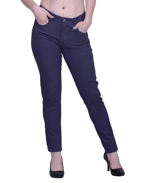 HDE Women's Mid-Rise Stretchy Denim Slim Fit Skinny Jeans