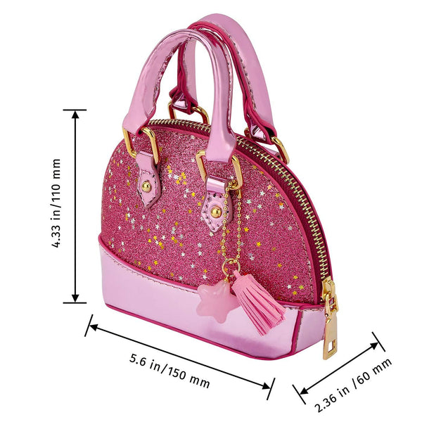 HDE Little Girls Toddler Tote Glitter Purse Mini Crossbody Fashion Toy for Kids
