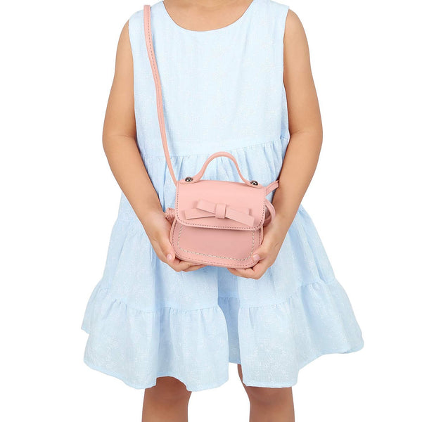 HDE Small Fashion Purse for Little Girls Pastel Toddler Kids Bag Cute Bow