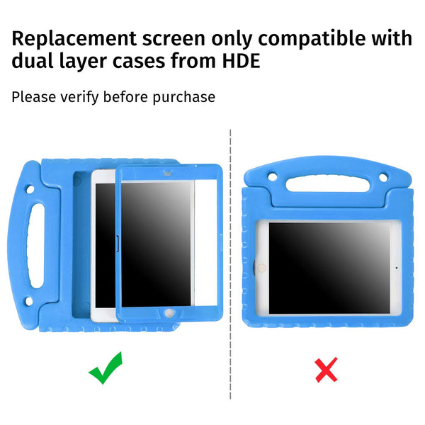 Replacement Screen Protector for HDE Dual Layer Shockproof iPad Cases compatible with 1st 2nd and 3rd Generation Apple iPad Mini 7.9