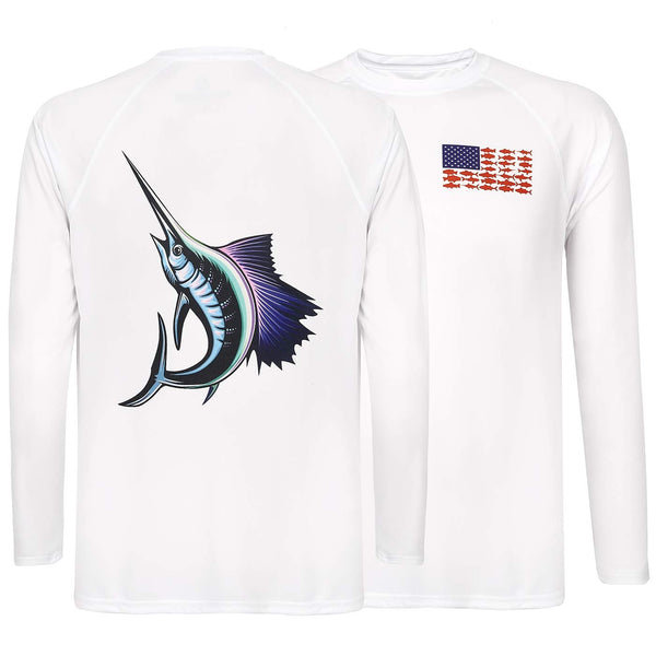 HDE Performance Fishing Shirts for Men - Long Sleeve UPF 50 Sun Protection Quick-Dry Outdoor T-Shirt