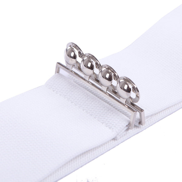 Womens Wide Elastic Waist Belt for Dresses Waistband Trimmer Stretch Cinch Belt