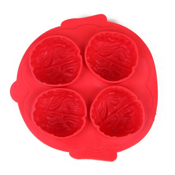 HDE Brain Silicone Ice Cube Tray Novelty Halloween Brain Shaped Chocolate Molding Ice Cube Party Mold