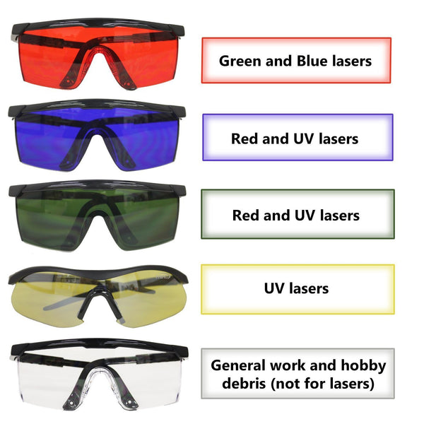 HDE Laser Eye Protection Safety Glasses for Red and UV Lasers with Case