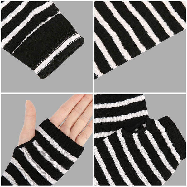 HDE Women Fingerless Long Gloves Thumbhole Arm Warmer Sleeve Elbow Length