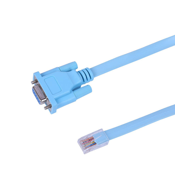 HDE 9-Pin DB9 Serial RS232 Port to RJ45 Cat5 Ethernet LAN Rollover Console Cable Switch Line (Single)