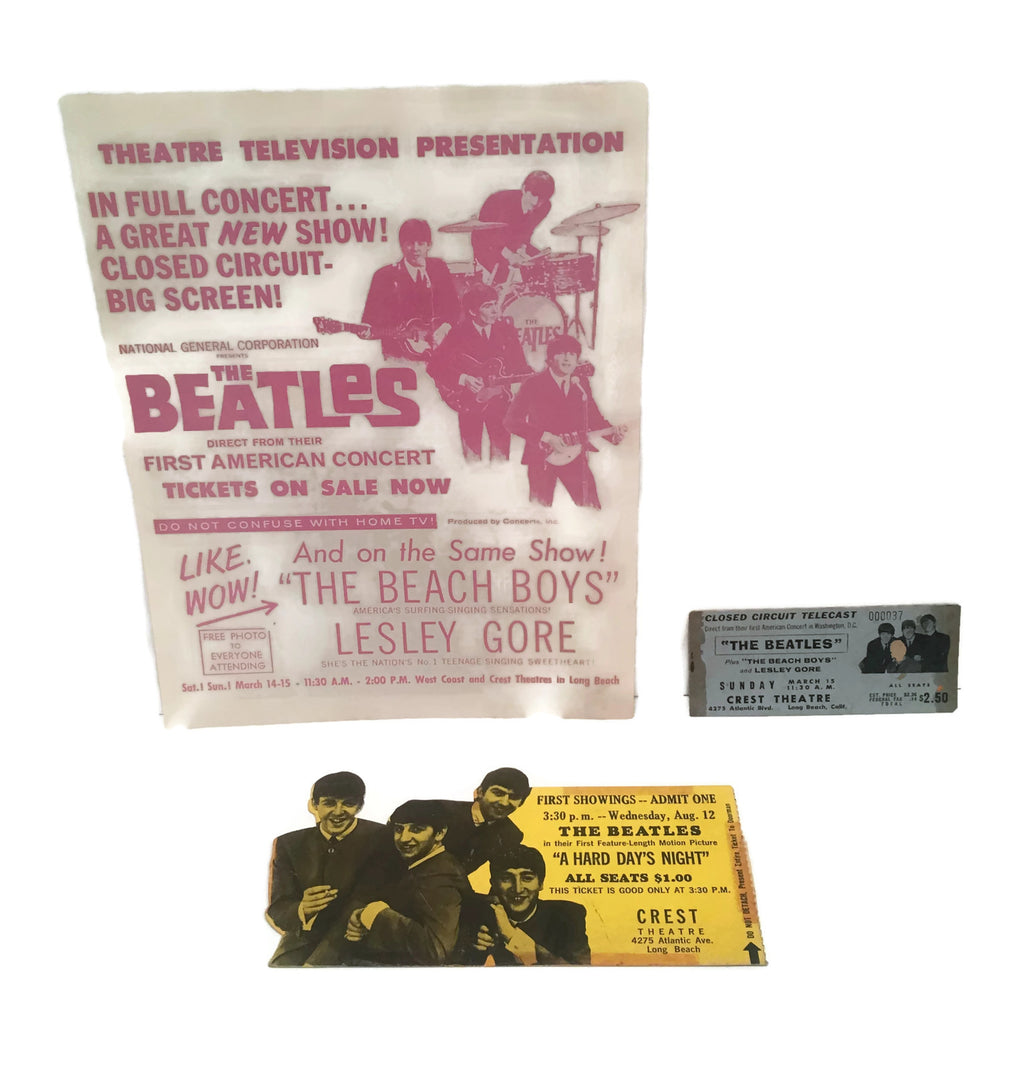 Group of 3  Original Beatles Items  c. 1964