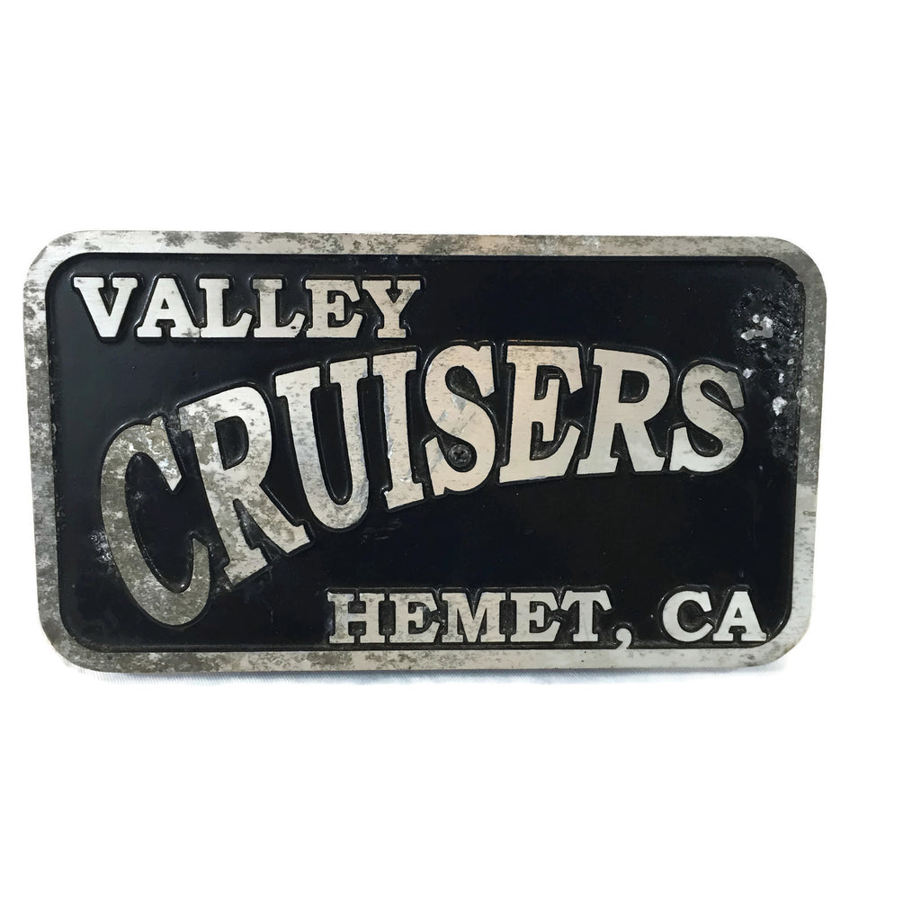 Vintage Valley Cruisers Car Club Plaque Hemet CA