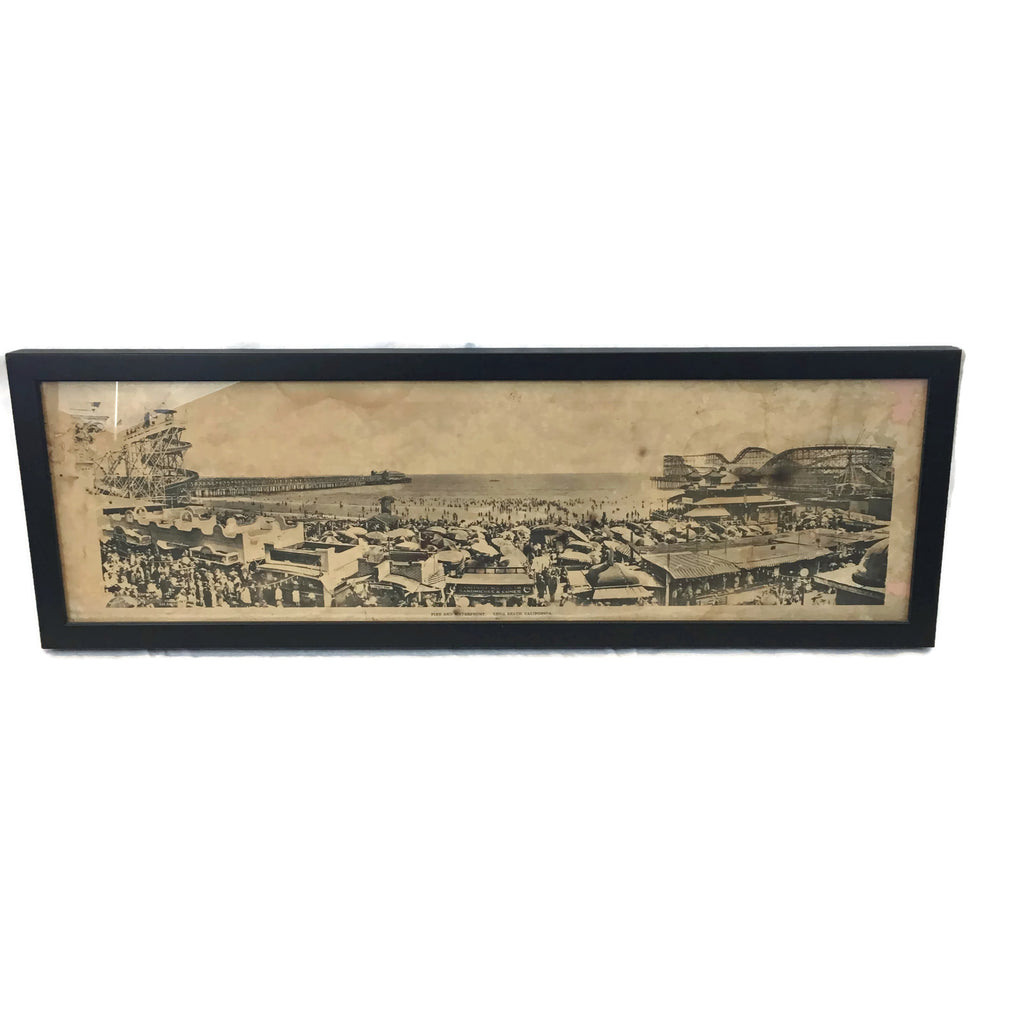 Vintage Long Beach Pike Original Photo Print From 1921