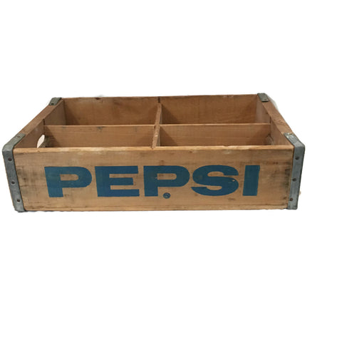 Vintage Wooden Pepsi Soda Crate