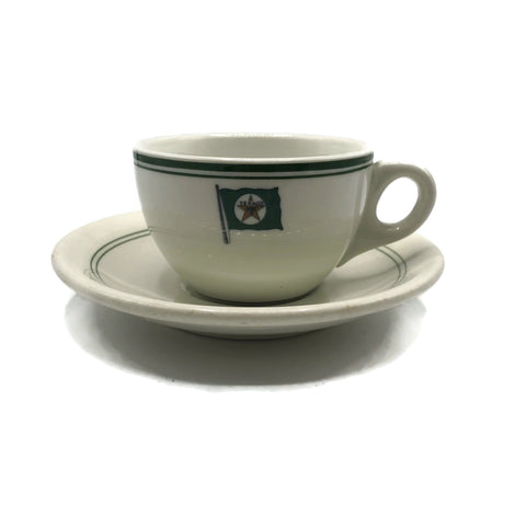 Vintage rare Texaco Cup teacup and saucer by Wallace China