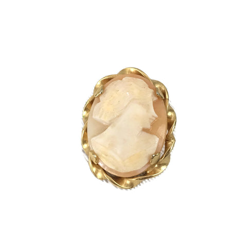 Vintage Gold Tone Cameo